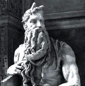 Moïse de Michelangelo à l'église de Saint-Pierre-aux-Liens à Rome