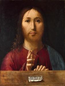 Antonello da Messina : Salvator Mundi. (1465-1475, National Gallery, Londres)