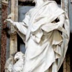 Camillo Rusconi, Saint Jean l'Évangéliste (ca 1715) . Rome, Église de Saint-Jean-de-Latran. Photo Wikimedia.