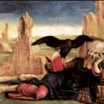 Cosmé Tura, Saint Jean à Patmos (1470). Madrid, Musée Thyssen-Bornemysza. Photo Wikimedia Commons