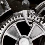 charlie chaplin dans Les Temps modernes. Photo Wikimedia, ccl.