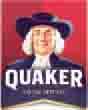 """logo de la marque de céréales """"Quaker""""."""