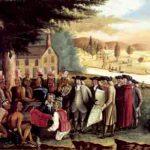 William Penn traitant avec les Indiens, peinture de Edward Hicks, ca 1830.