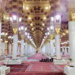 La mosquée al-Nabawi à Médine où se trouvent le tombeau de Mahomet et ceux des deux premiers califes, Abu Bakr et Omar ibn al-Jattab. Photo Americophile/commons wikimedia