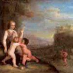 Louise Hollandine, Princesse von der Pfalz : Adam et Ève avec Caïn et Abel. Vers 1660, provenant du château de Blankenburg.